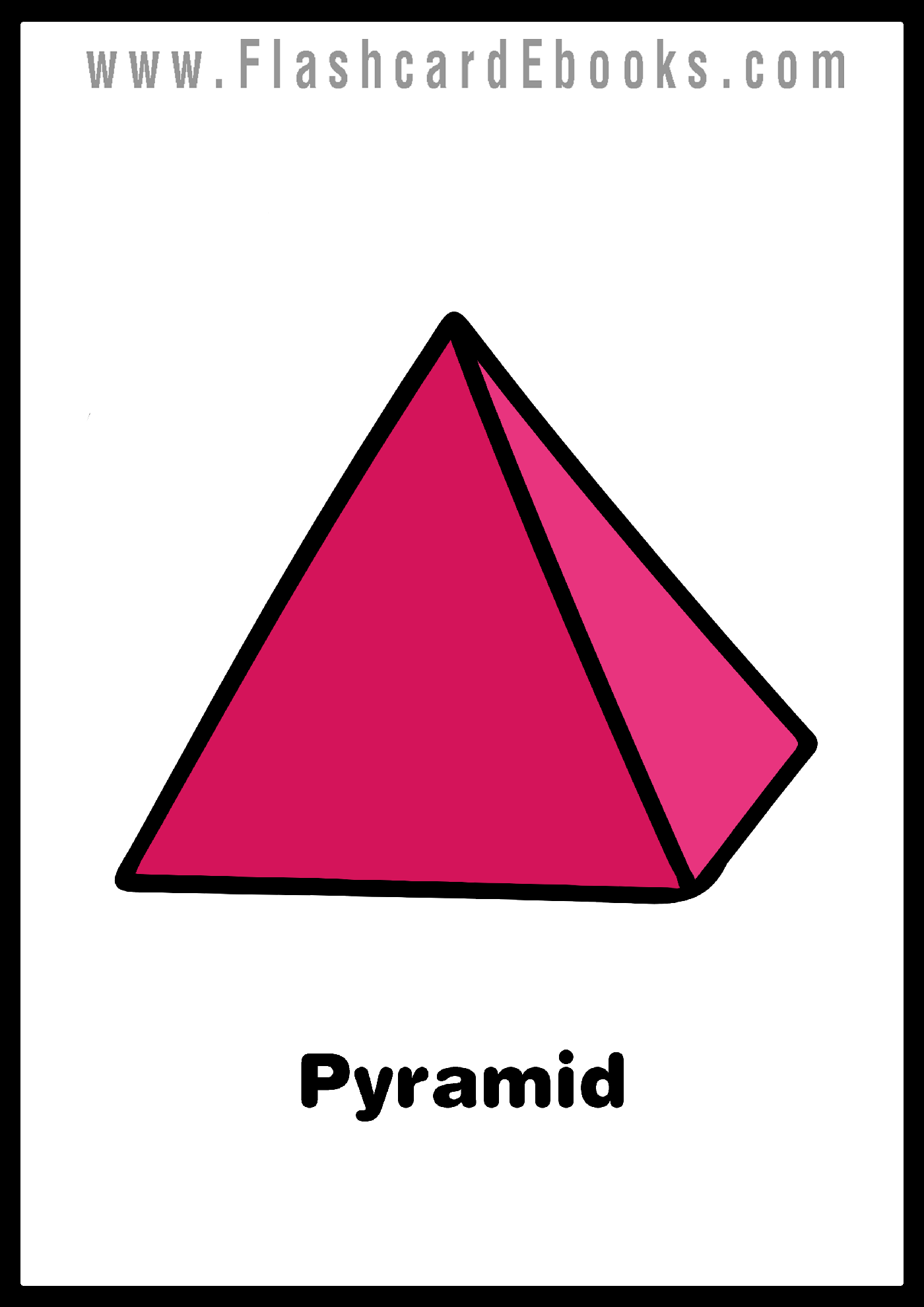 English Flashcard Kindle Shapes Pyramid