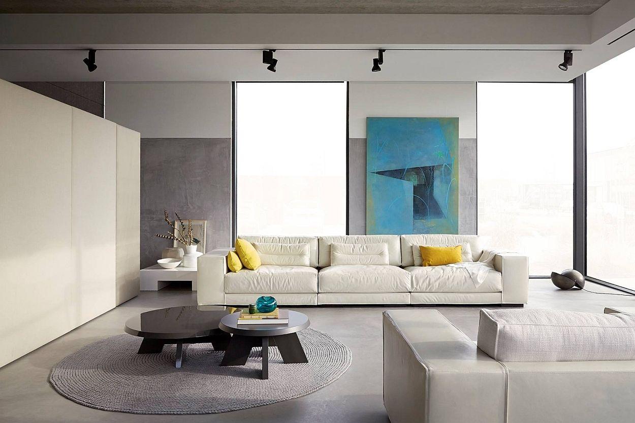 Gietvloer Op Slaapkamer : Cementgebonden gietvloer interior living room