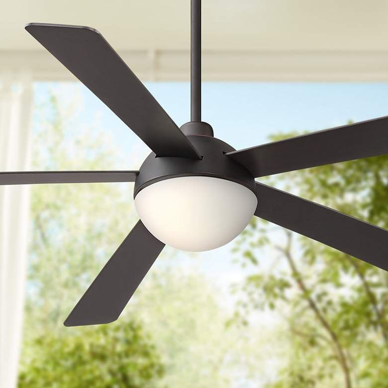 60 Casa Odessa Bronze Damp Rated Led Ceiling Fan 64r98 Lamps Plus In 2020 Led Ceiling Fan Ceiling Fan Ceiling Fans Without Lights