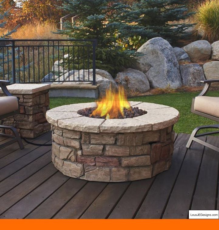 outdoor fire pit bbq table grill fireplace with ice tray tip rh in pinterest com