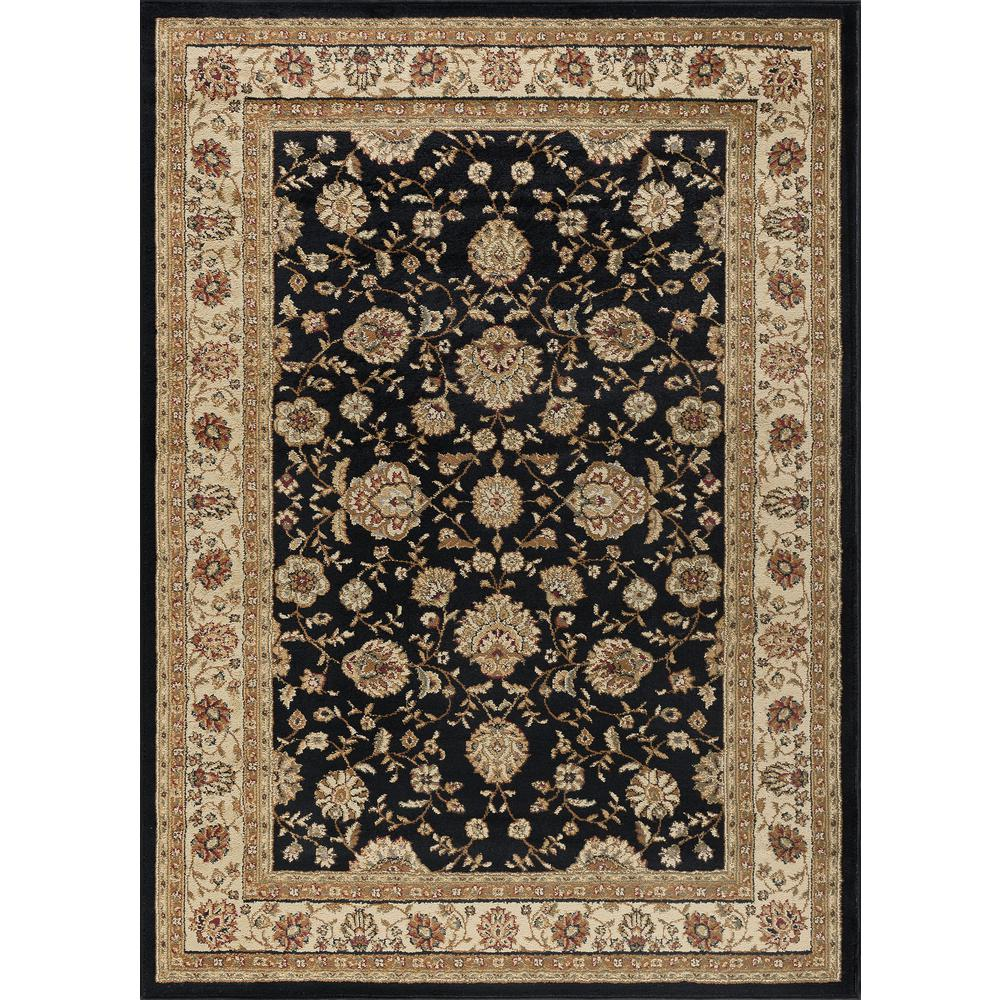 Tayse Rugs Elegance Black 8 Ft X 10 Ft Traditional Area Rug Traditional Area Rugs Area Rugs Navy Rug