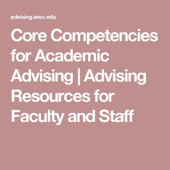 Core Competencies for Academic Advising Advising Resources for - resume core competencies