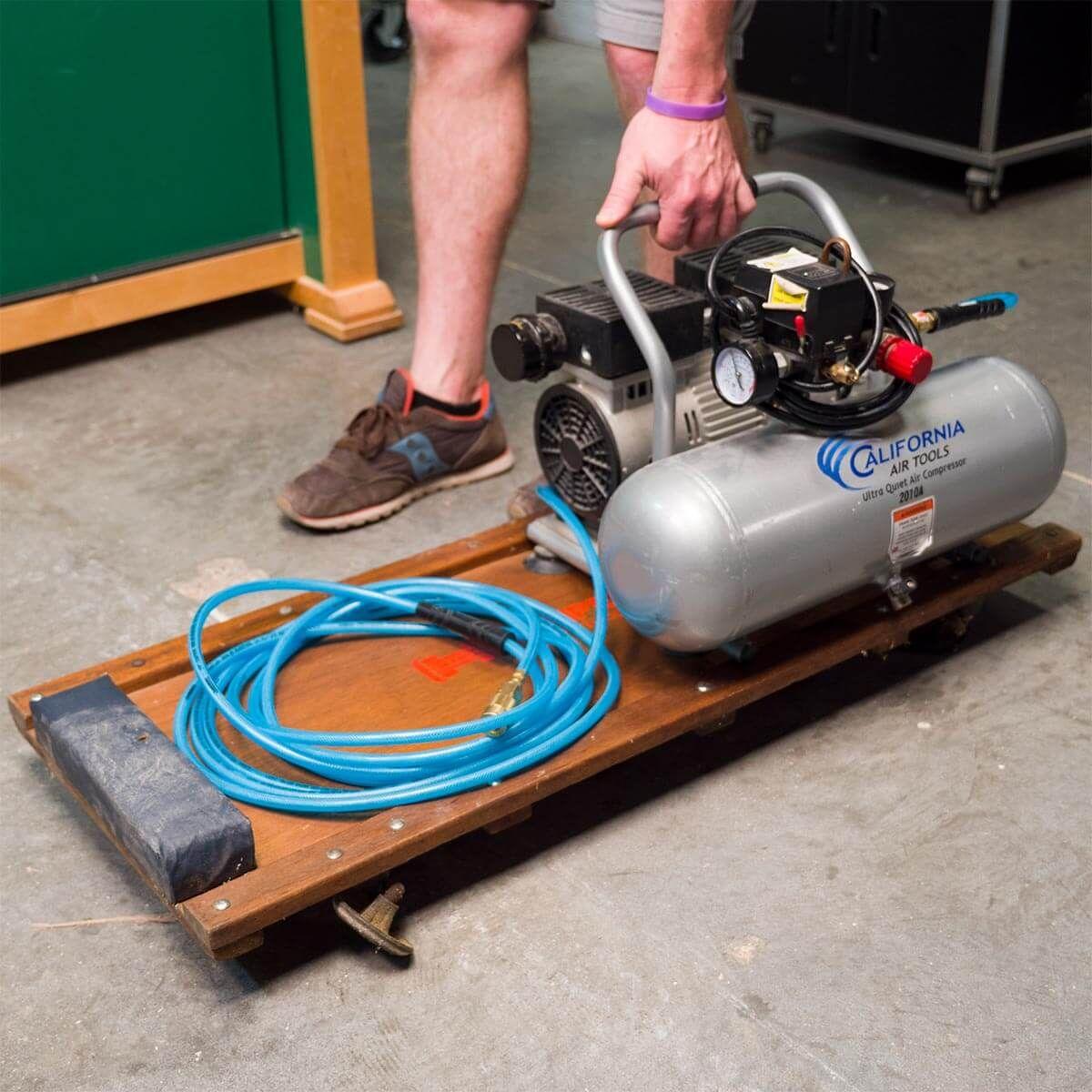 Compressor Creeper Air compressor, Air tools, Garage