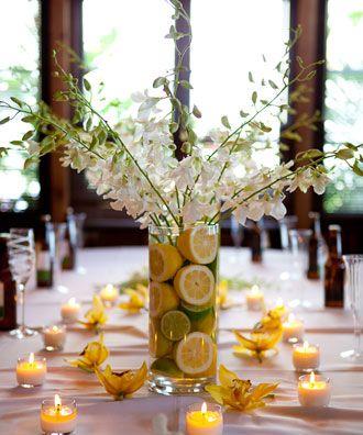 Centro de mesa con limones para tu boda flores - Centros de mesa con limones ...