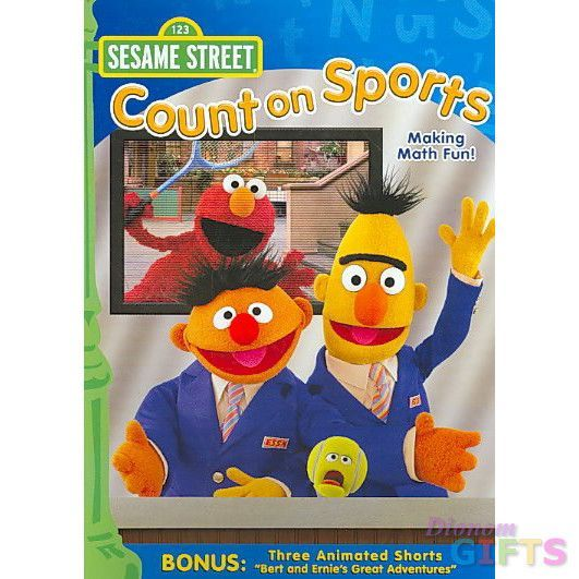 SESAME S-COUNT ON SPORTS (DVD/FS/WHITE CASE VERSION)-NLA