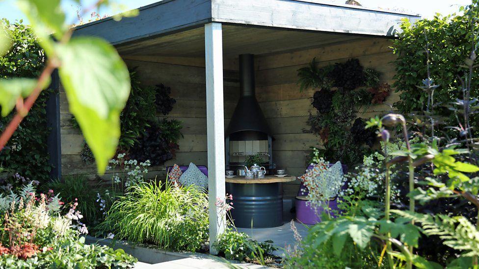 Urban Glade garden RHS Tatton by Katie Maude - Covered seating area ...