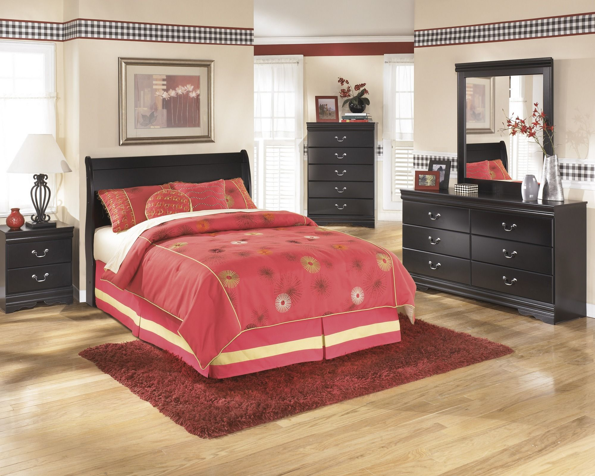 B Signature Design By Ashley Huey Vineyard Dresser Black - Big sandy bedroom furniture