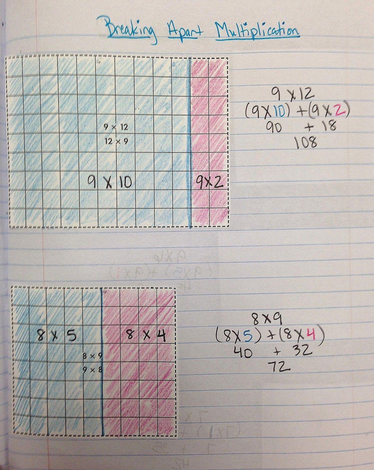 Breaking Apart Numbers In Multiplication