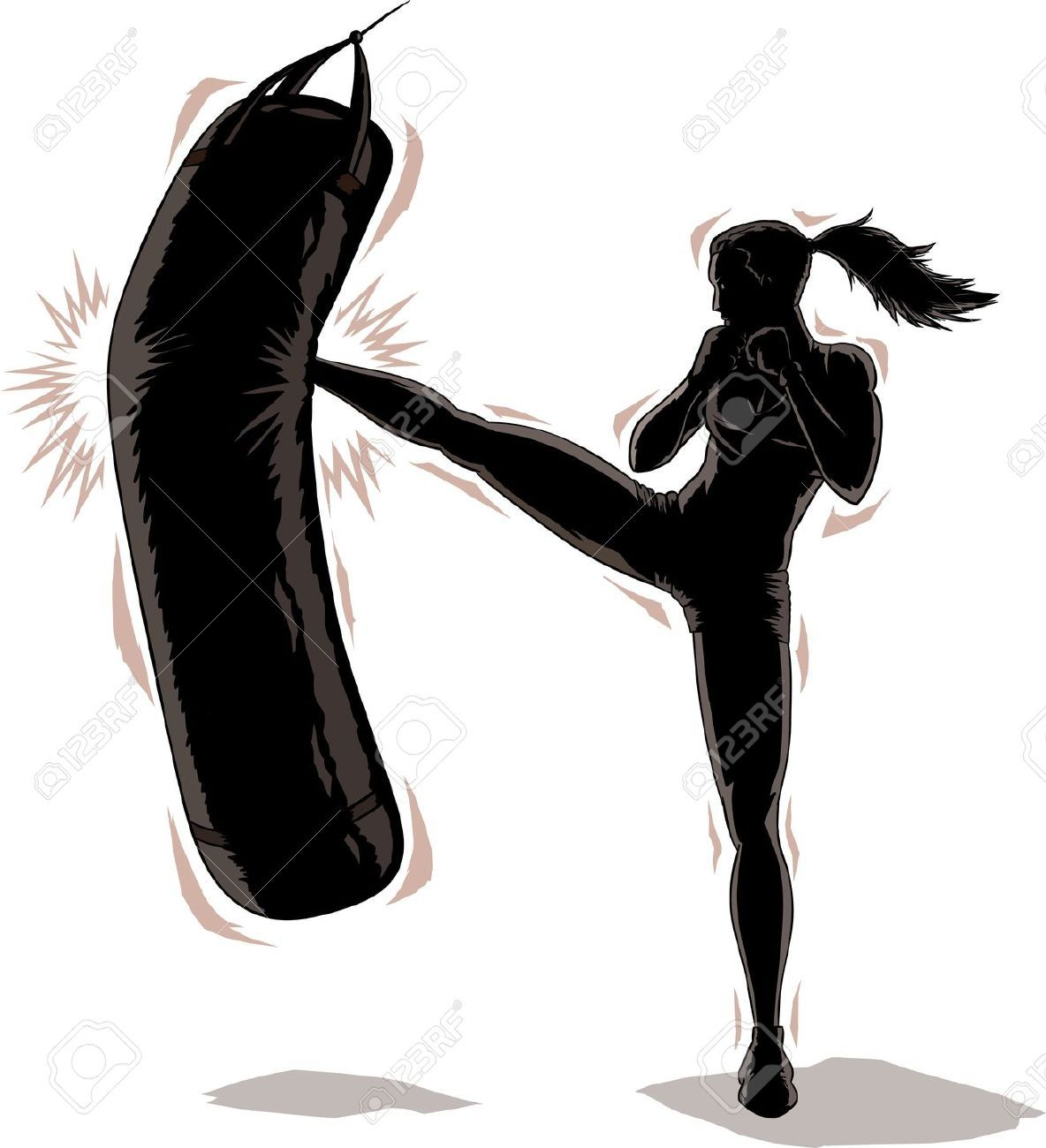 Kickboxing Stock Photos Images Royalty Free Kickboxing Images And Pictures Kickboxing Women Kickboxing Boxing Girl