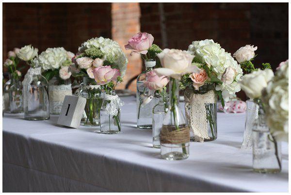 Shustoke Farm Barn Wedding Flowers Summer Jugs Flowers