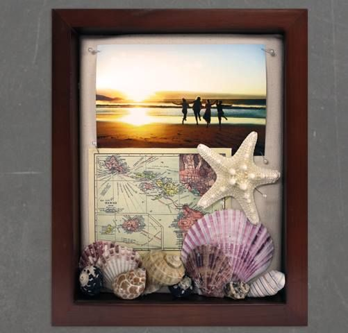 Front opening shadow box– beach theme inspiration made by ...