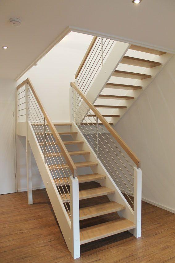 podesttreppe wei treppen pinterest podesttreppe treppe und hausbau. Black Bedroom Furniture Sets. Home Design Ideas