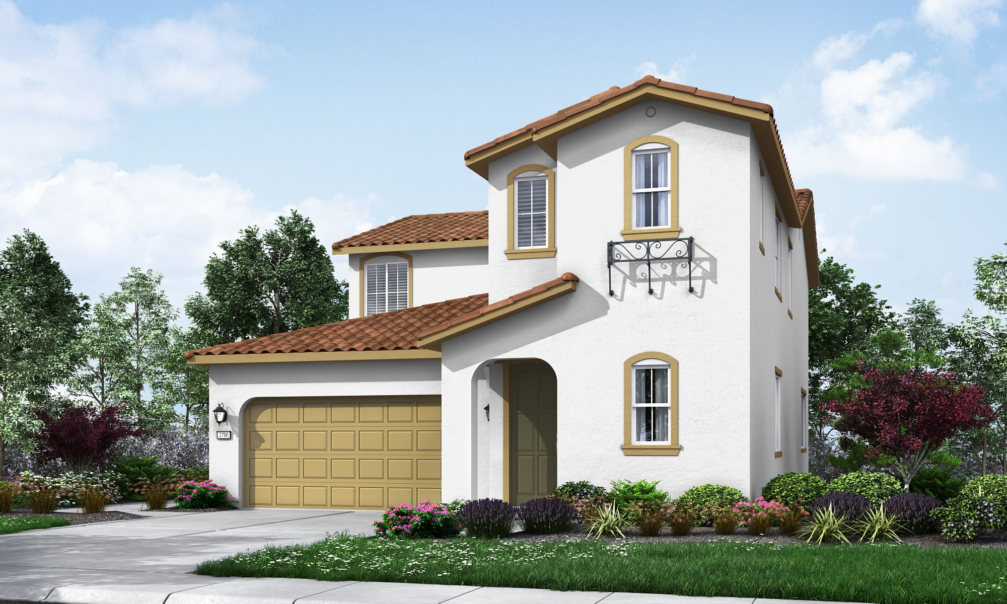 The rockport plan is a great two story home that provides 2785 square feet four bedrooms including dual master