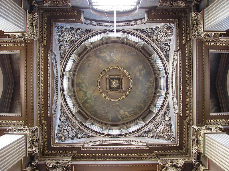 The Painted Hall Cupola Above Vestibule Greenwich London King
