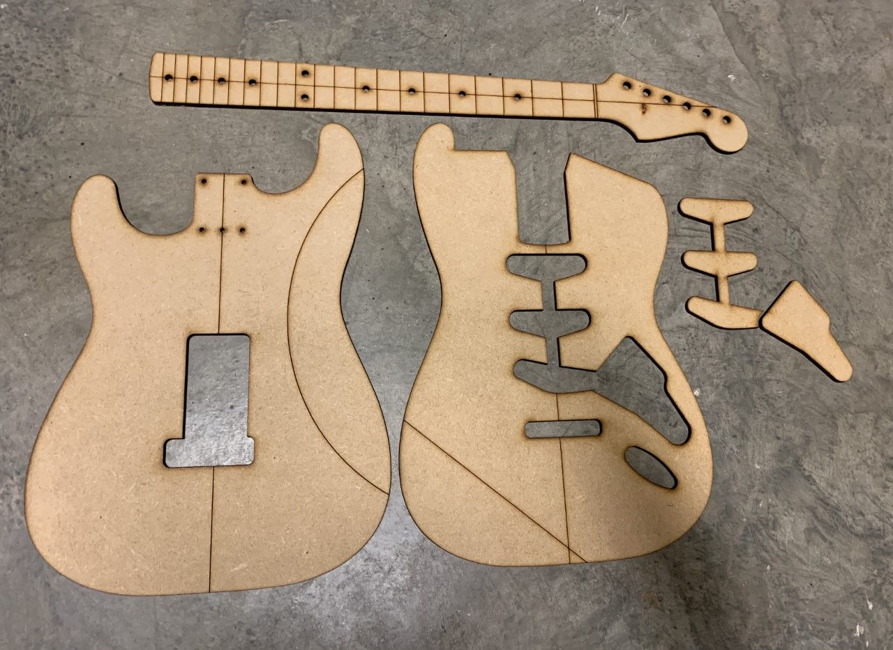 60's Strat Template — Guitar Building Templates