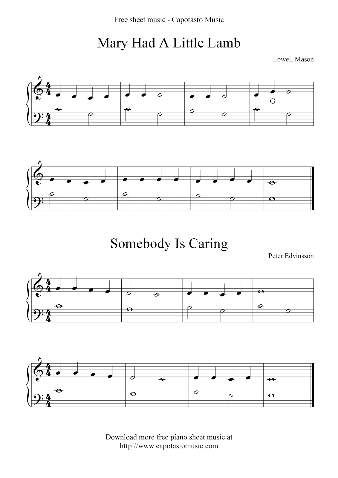 Free Sheet Music Scores Free Basic Piano Sheet Music