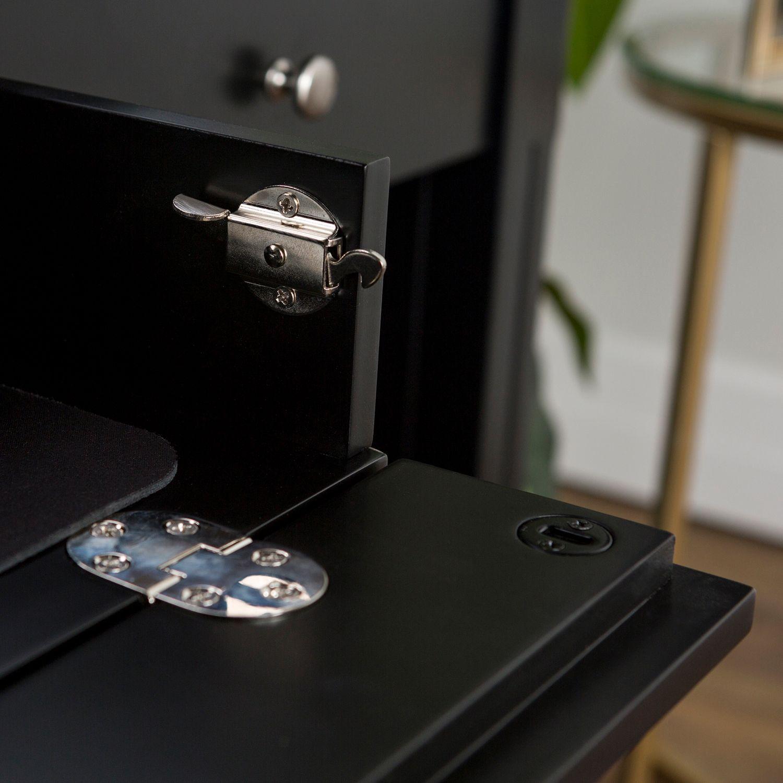 Black Deluxe Wood Storage Computer Desk In 2019