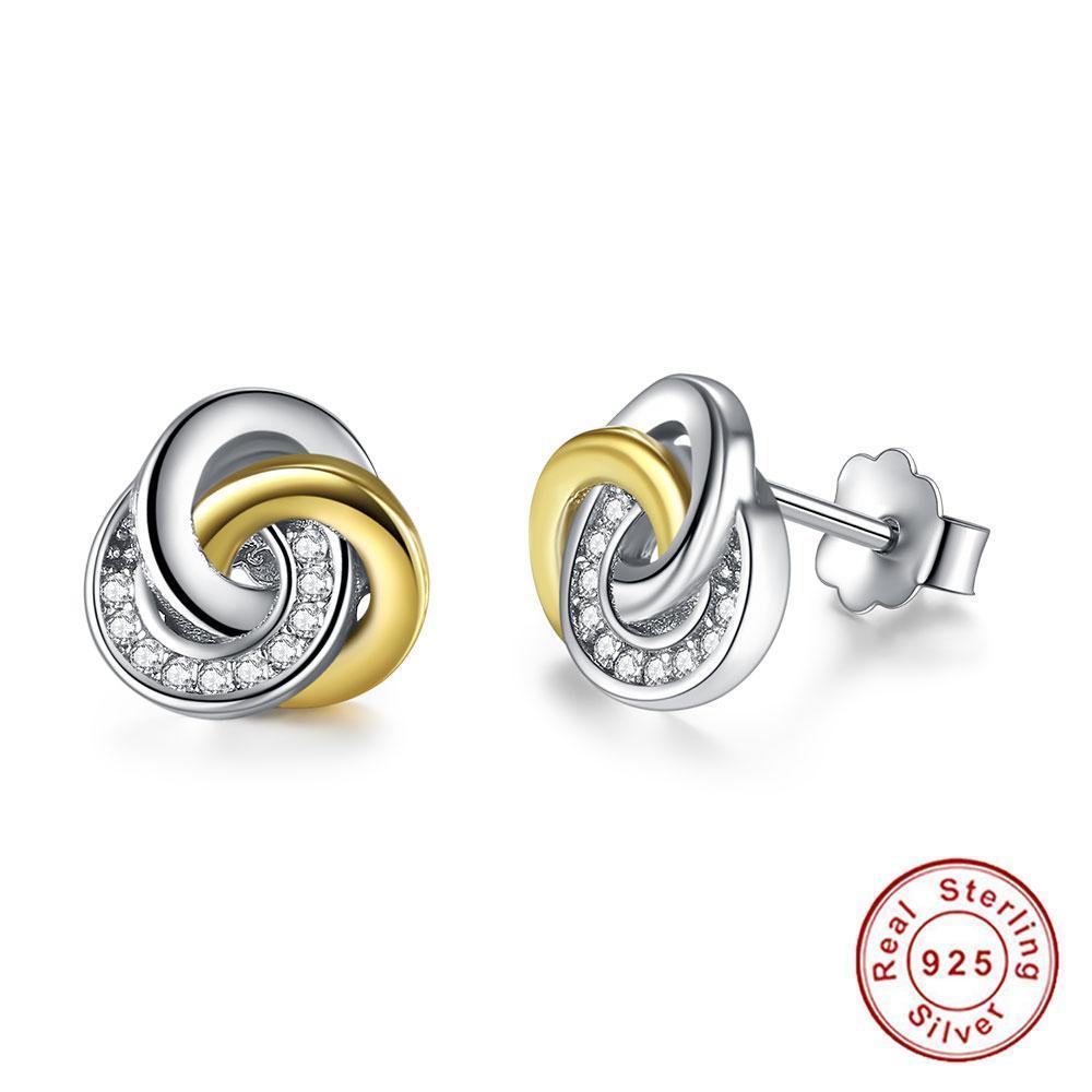 98066c150232ea Twist Love Knot Stud Earrings in 2019 | Jie | Women's earrings ...