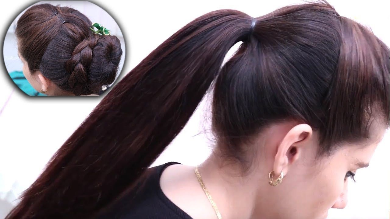 Ponytail u bubble bun hairstyles hairstyles for long hair easy