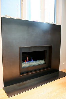 Steel and Modern fireplaces