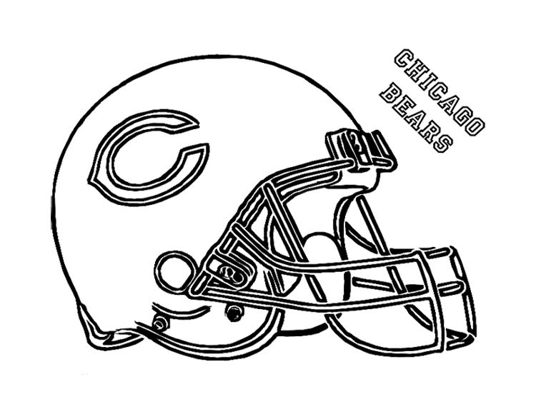 Coloring Page For Kids Football Coloring Pages Nfl Football Helmets Sports Coloring Pages