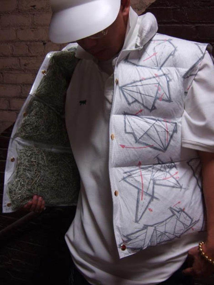 Origami Clothing Tyvek Reversible Puffer Vest Pinterest