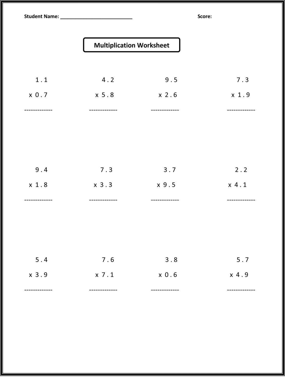 8 6th Grade Worksheet Free