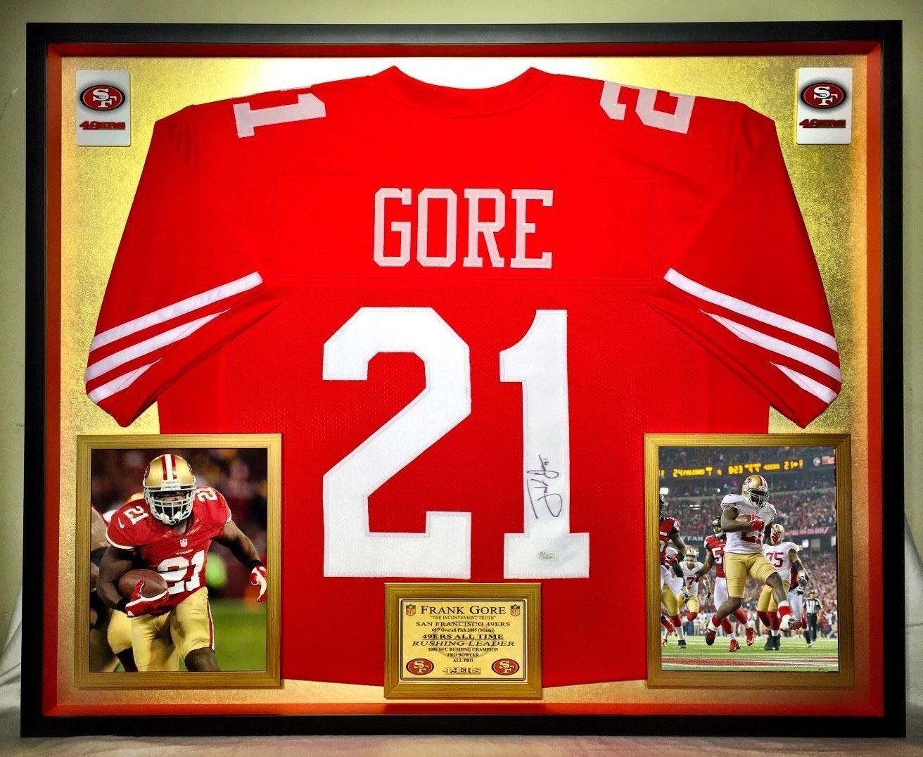best sneakers c6ba9 14bc7 Frank Gore Autographed / Signed Framed Jersey | San ...