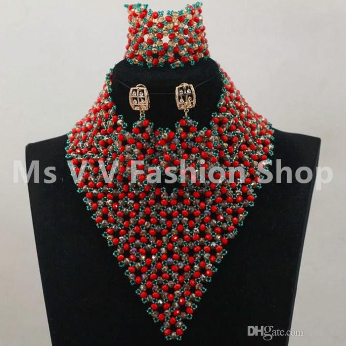 e43ad2d4e9ab0 2019 African Beads Jewelry Set Wedding Yellow Wholesale ...