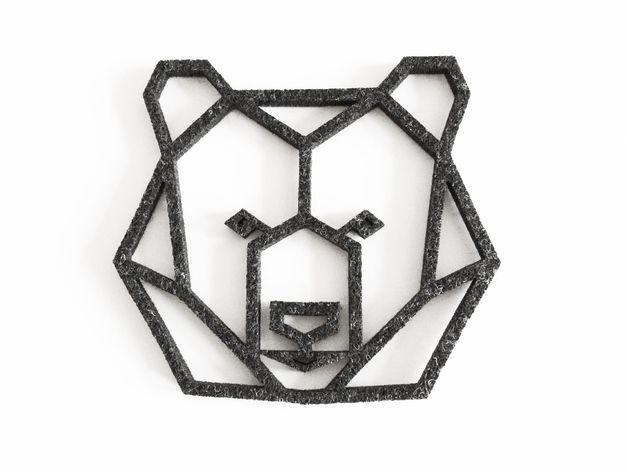 Coasters – geometric bear head felt coaster – a unique product by ...