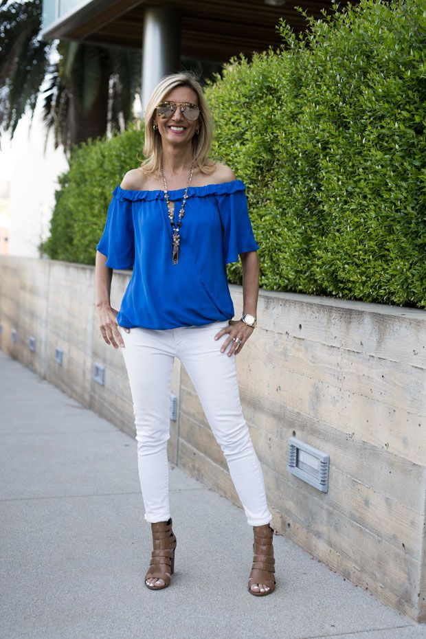 New on the blog today our White Eyelet Embroidered jacket, Royal Blue Off The Shoulder Top and Multi Bead Necklace - All part of our 24-HR FLASH SALE! . Get 15% off all featured items with code FS425 plus Free US Shipping www.jacketsociety.com