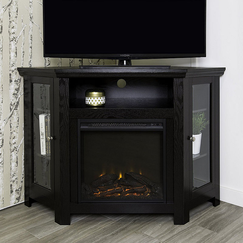 Terrific 48 Wood Corner Fireplace Media Tv Stand Console In 2019 Download Free Architecture Designs Terstmadebymaigaardcom
