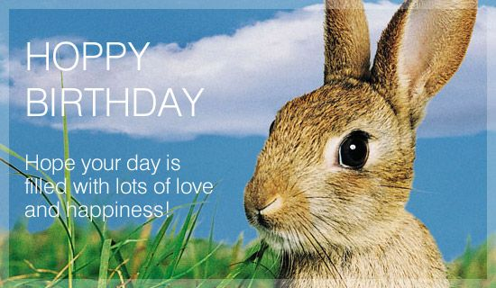 Free Hoppy Birthday eCard eMail Free Personalized Birthday Cards – Send a Birthday Greeting by Email