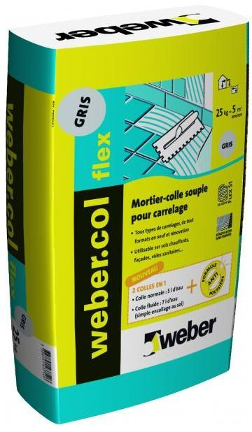 Colle carrelage weber col flex colle carrelage for Colle carrelage blanche