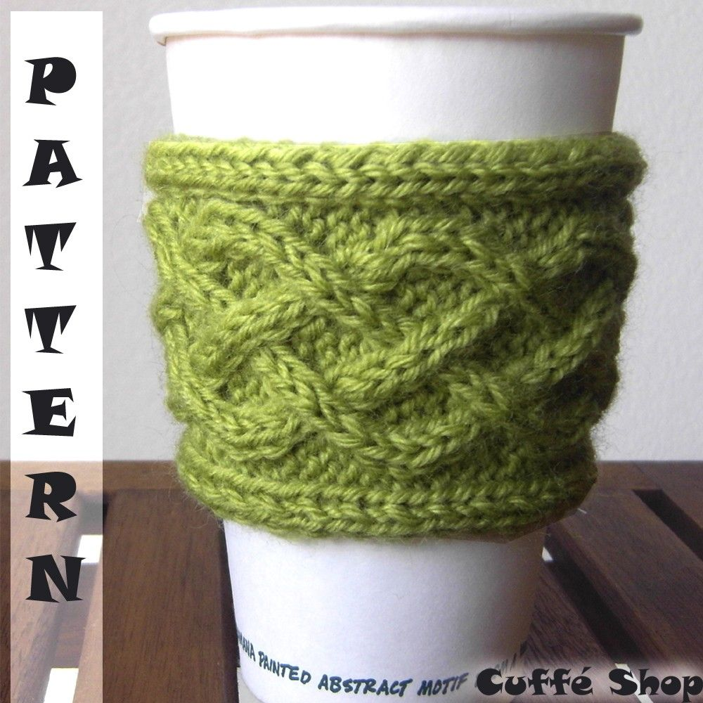 Contemporáneo Coffee Sleeve Knitting Pattern Adorno - Manta de Tejer ...