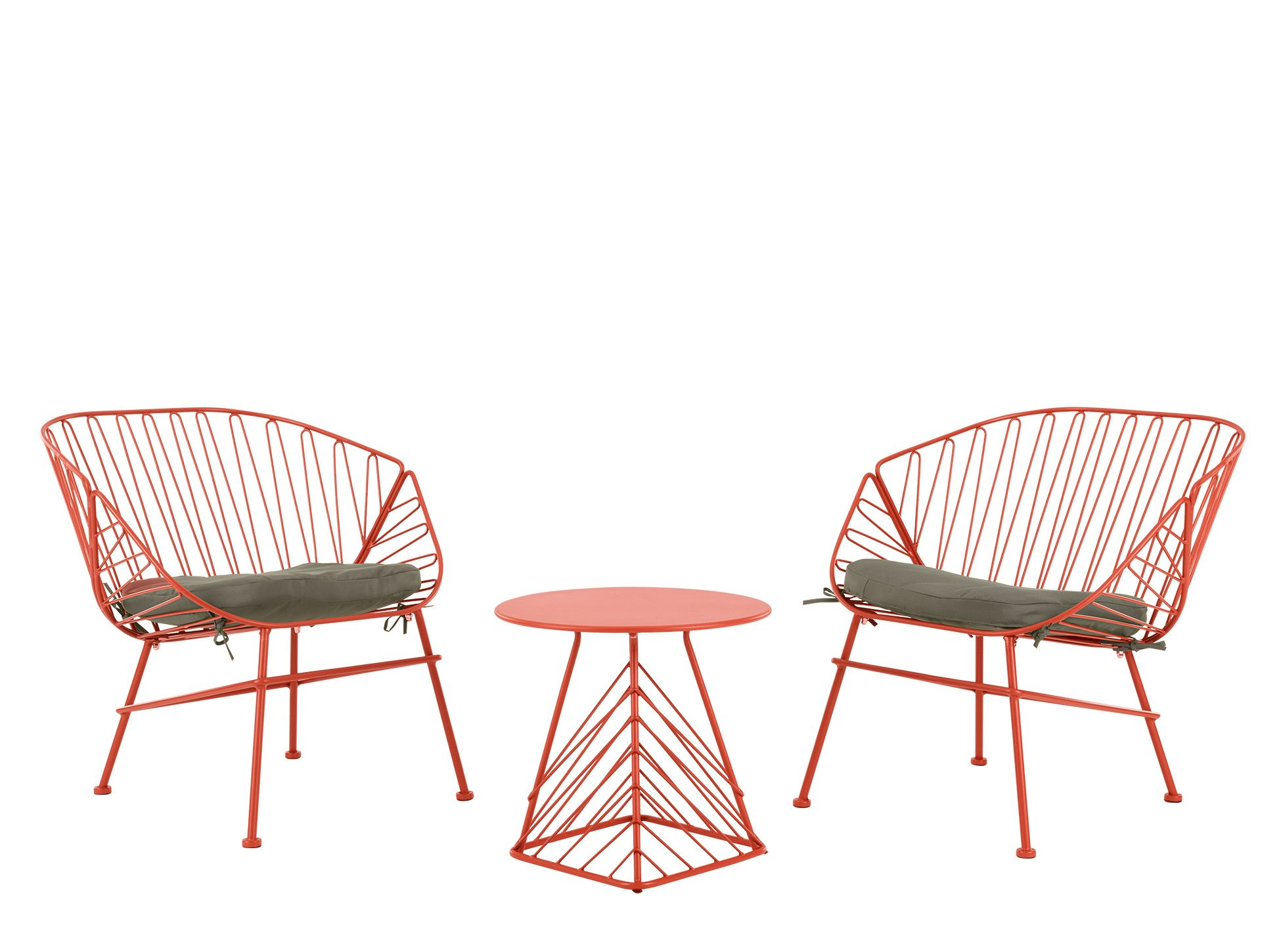 TegaEnsemble Table D'appoint L'apéritifRouge Chaises Et Pour N8n0wkOXP