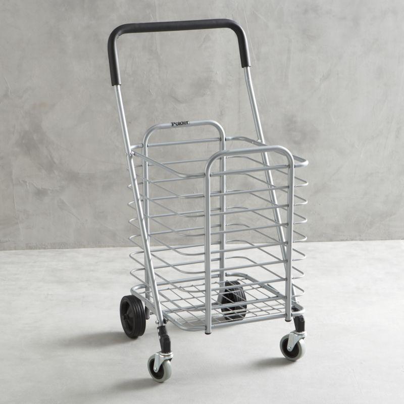 Polder Folding Shopping Cart - Great Transporting Diner En Blanc #