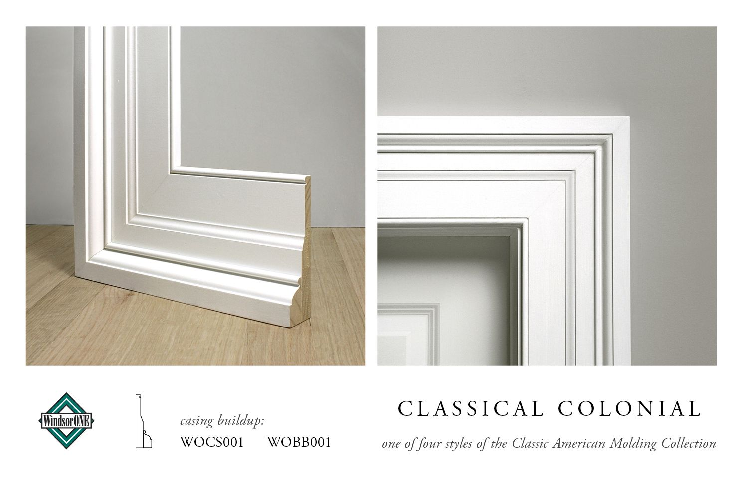 Classical Colonial Moldings, 18th century style