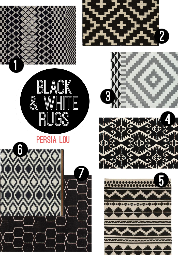 Captivating Favorite Black And White Rugs Roundup