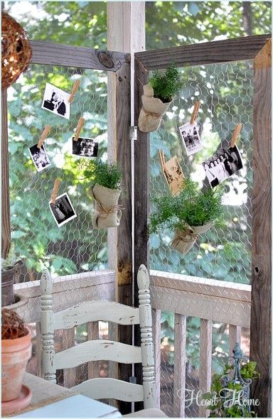 Chicken Wire Screen | Blogger Home Projects We Love | Chicken wire