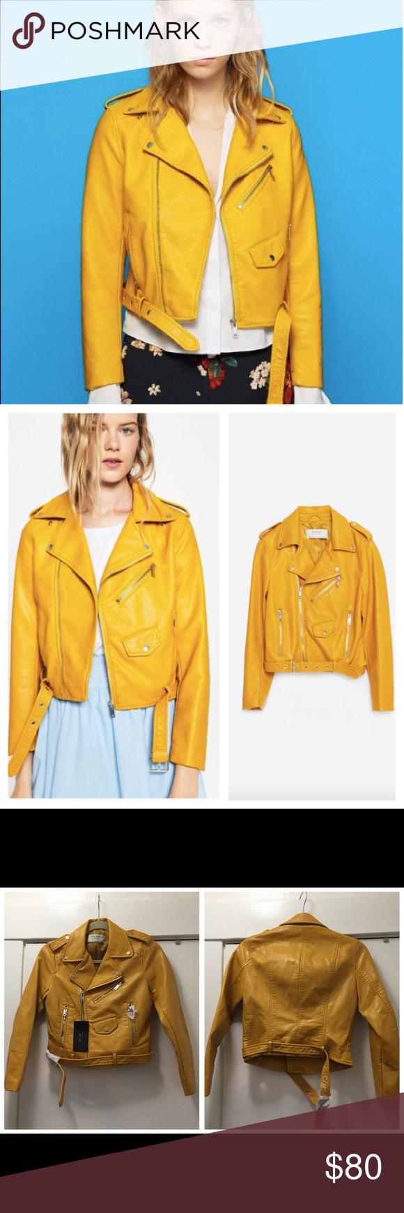 Zara NWT faux leather moto jacket size XS ⚡️ Super cute