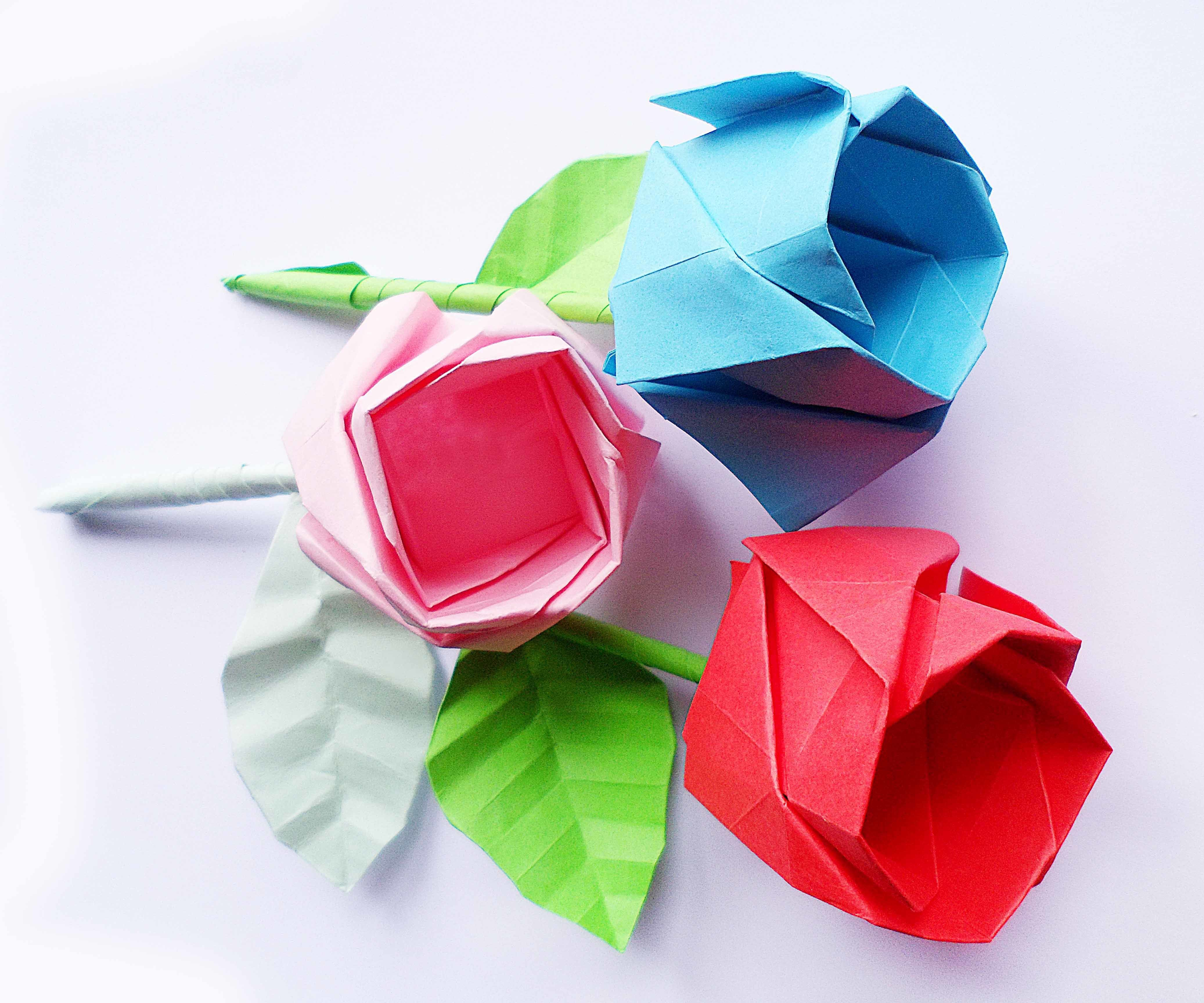 Diy Origami Rose Step By Step Diy Origami Origami And Tutorials