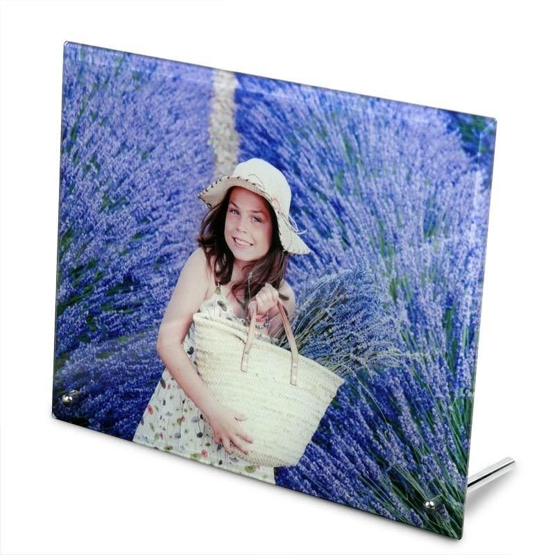 Glas Mit Fotodruck Madchen In Lavendelfeld Foto Druck Fotos Foto Geschenk Ideen