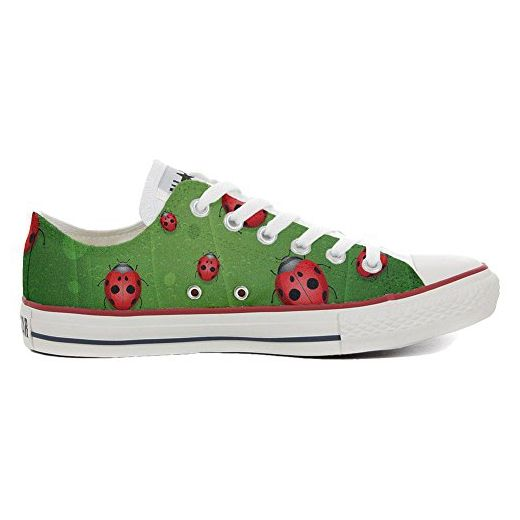 Converse Original CUSTOMIZED with printed Italian style (handmade shoes) Slim Lady Bugs