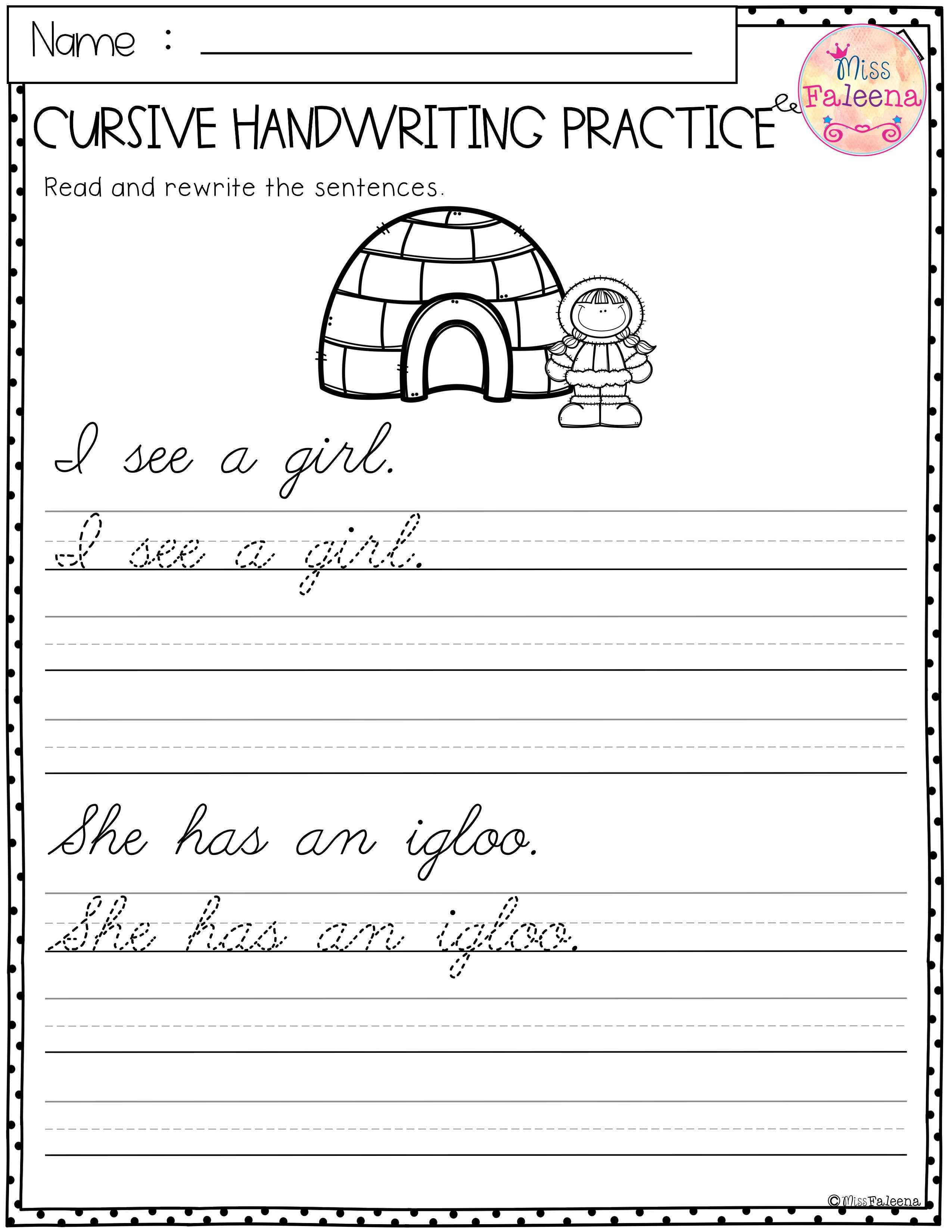 Winter Cursive Handwriting Practice This Product Has 20 Pages Of Handwriting Worksheets Cursive Handwriting Practice Cursive Handwriting Handwriting Practice [ 3300 x 2550 Pixel ]