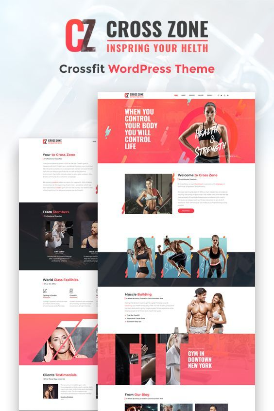 #crossfit #studio #wellness #gym #workout #fitness #website #design #wordpress #theme #templates #fi...