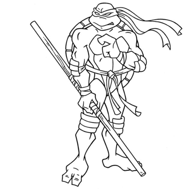Donatello In Online Teenage Mutant Ninja Turtles Coloring Page