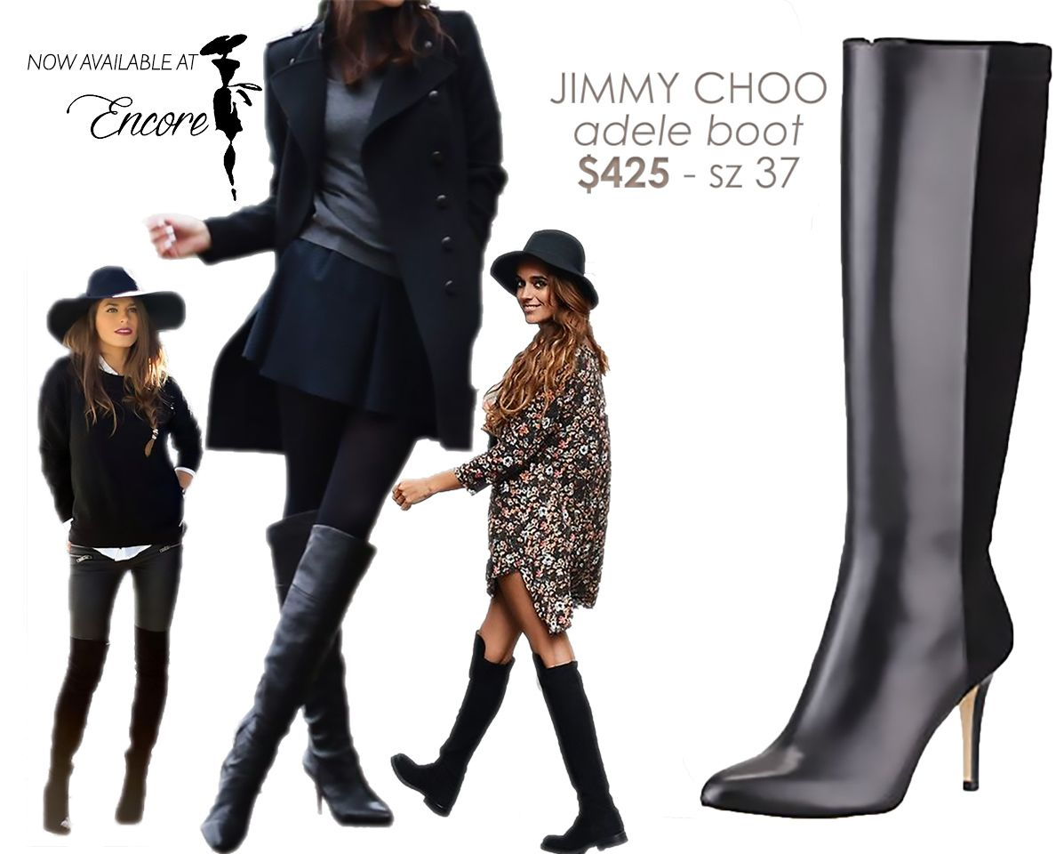 313fb6d7e3f These knee high Jimmy Choo boots are great for Fall to Spring transition!  Now  425 on www.encoreresale.com Size 37