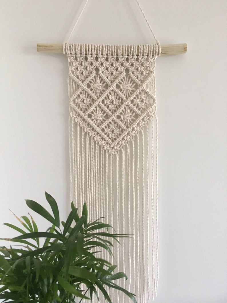 Photo of Macrame planter, hanging planter, hanging planter, plant pendant, plant holder, succulent planter, modern Macrame, home decor, gift