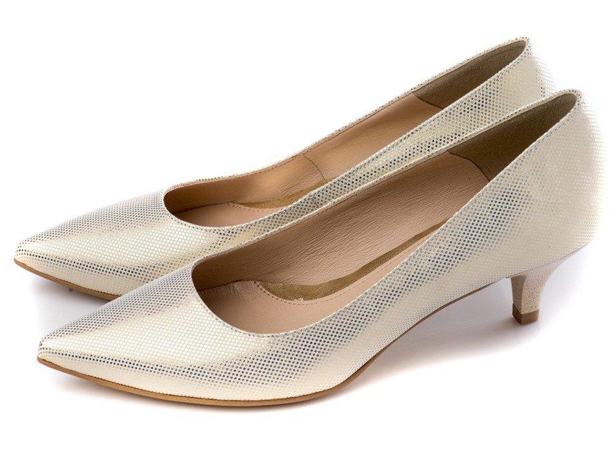 Buty Stifbut Ecru Zloto Wz 112 Ecru Shoes Heels